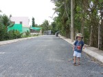 Vue en direction de l'école