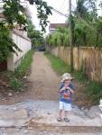 Notre route depuis la rue de l'école